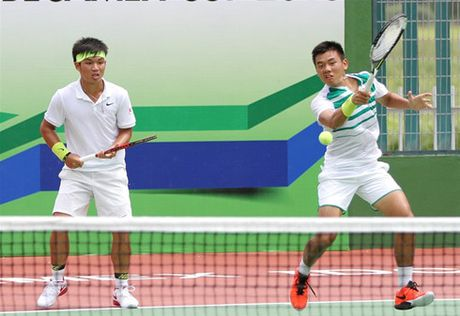 Hoang Nam, Hoang Thien vao tu ket doi nam Vietnam Open - Anh 1