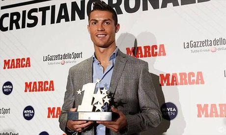 Cristiano Ronaldo tiep tuc duoc vinh danh - Anh 1