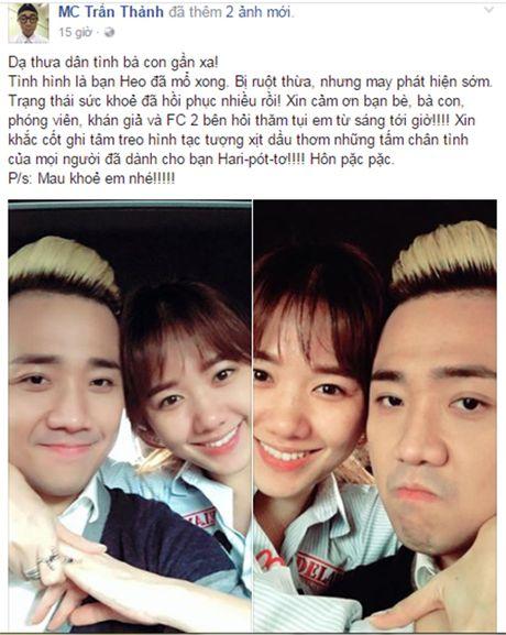 Hari Won tuoi tan ben Tran Thanh sau ca phau thuat - Anh 3