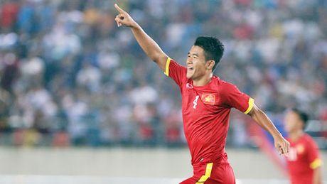 Ha Duc Chinh danh dau tung luoi U19 Trieu Tien, mo ty so cho U19 Viet Nam - Anh 1