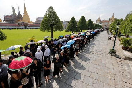 Linh cuu Quoc vuong Thai Lan duoc dua ve cung dien - Anh 2
