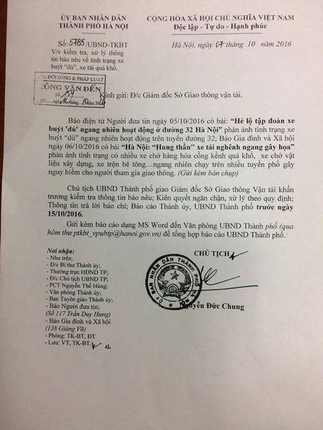 Chu tich Nguyen Duc Chung chi dao lam ro tinh trang xe buyt 'du' - Anh 2