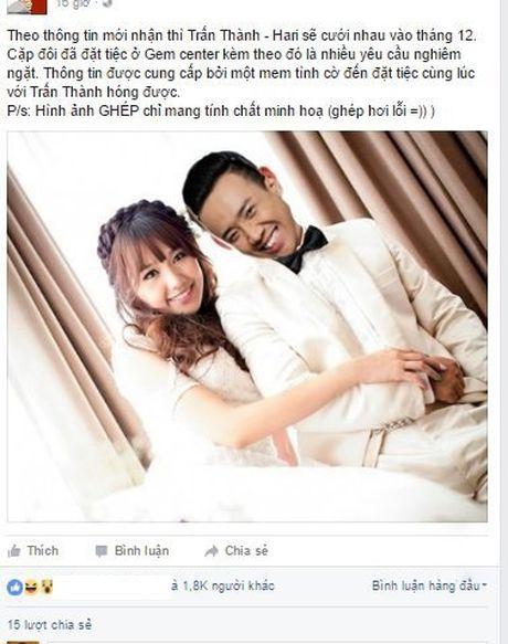 Ro tin Tran Thanh va Hari Won se to chuc dam cuoi vao cuoi thang 12 - Anh 1