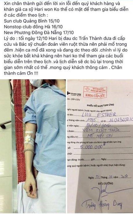 Hari Won nhap vien sau tin don dam cuoi voi Tran Thanh vao thang 12 - Anh 2
