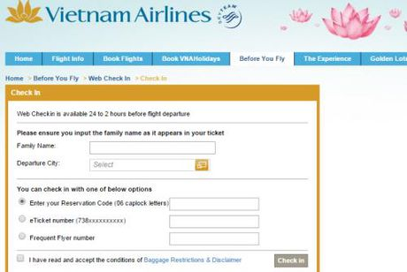 Vietnam Airlines mo them diem cung cap dich vu 'web check-in' - Anh 1