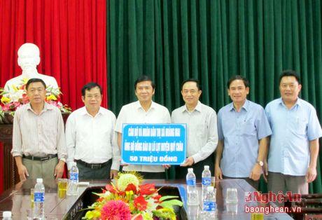 TX Hoang Mai ho tro Quy Chau khac phuc hau qua lu lut - Anh 1