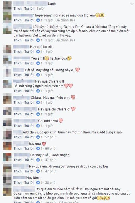 Giua tam bao, Chiara the hien ca khuc 'Bai ca hy vong' lay dong nguoi nghe - Anh 3