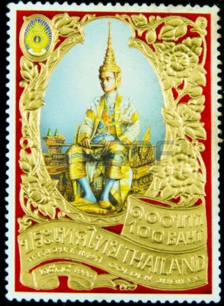 Nghe nguoi Thai ke ve cuoc doi Quoc vuong tren tem buu chinh - Anh 2