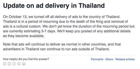 Facebook tat quang cao trong ngay quoc tang Thai Lan - Anh 1