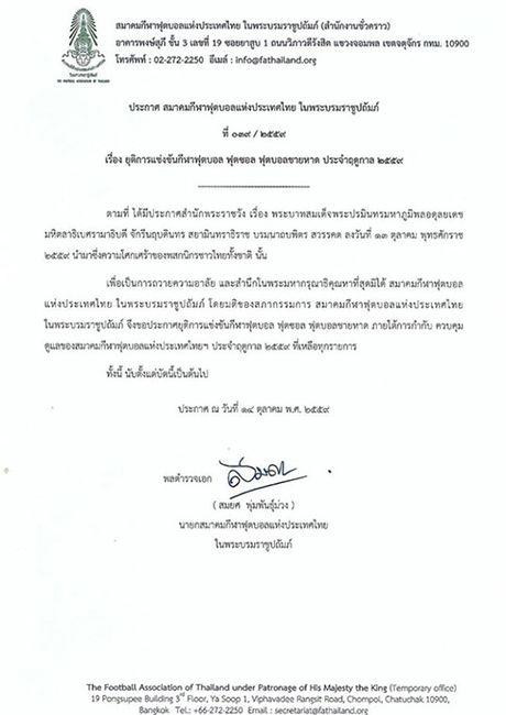 Nha vua bang ha, Thai Lan dung moi hoat dong bong da - Anh 2