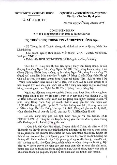 Bo truong Truong Minh Tuan yeu cau chu dong ung pho mua lu va bao Sarika - Anh 2