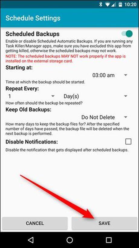 Backup tin nhan SMS vao email, Dropbox, Google Drive - Anh 17