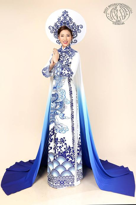 Bao Nhu dien ao dai dem chung ket Miss Intercontinental - Anh 2