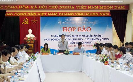 Phu Tho: Phat dong cuoc thi 125 nam thanh lap va 20 nam tai lap tinh Phu Tho - Anh 1