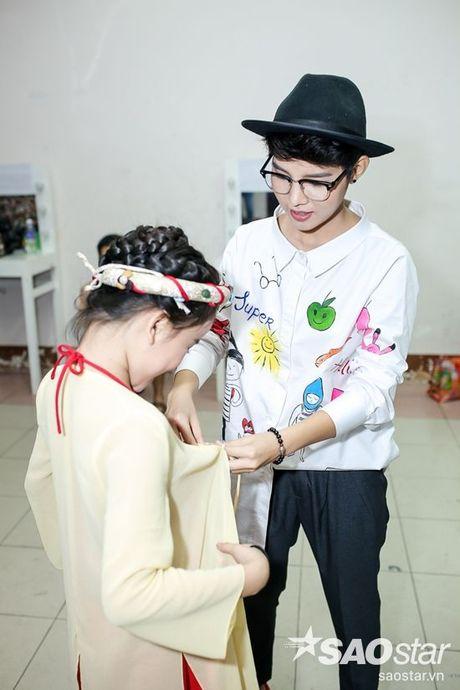 Chi Pu, Ngo Kien Huy, Noo Phuoc Thinh 'nhe rang, chu mo' sieu dang yeu trong hau truong The Voice Kids - Anh 6