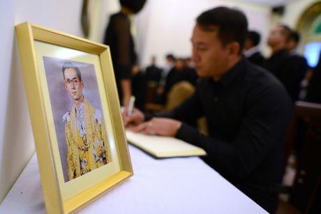 Doan nguoi xep hang vieng nha vua Thai Lan tai Ha Noi - Anh 13