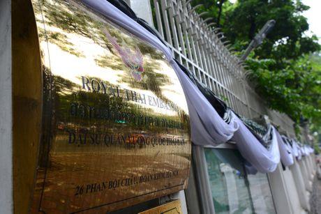 Doan nguoi xep hang vieng nha vua Thai Lan tai Ha Noi - Anh 16