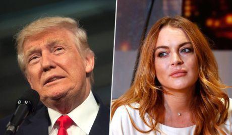 """Ong Trump nhan xet gi ve """"nu hoang tiec tung"""" Lindsay Lohan? - Anh 1"""