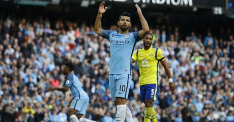Highlight: Man City 1-1 Everton (Vong 8 NHA) - Anh 1