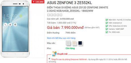 Asus ZenFone 3 giam gia 1 trieu dong - Anh 2