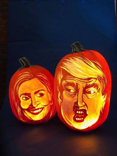 Giat minh vi qua bi ngo Halloween co bo mat ong Donald Trump - Anh 2