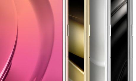 Lo anh render smartphone Samsung Galaxy C9: diem nhan dai ang-ten doc dao - Anh 1