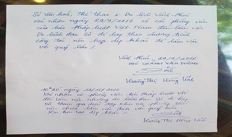 Vinh Phuc: La lung Pho giam doc So Van hoa, The thao va Du lich lien tuc 'ne' phong vien! - Anh 1