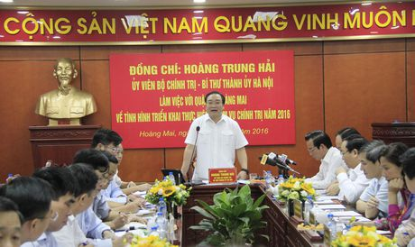 Bi thu Ha Noi: Vi pham trat tu xay dung o Hoang Mai la pho bien - Anh 1
