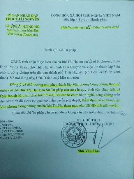 Thai Nguyen: Kho khan trong thanh lap van phong cong chung - Anh 1