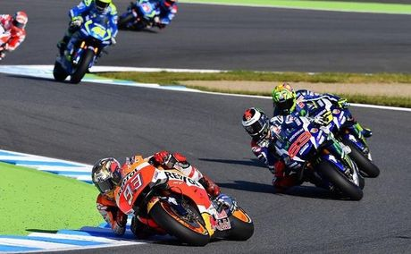 Honda thang lon, Marquez vo dich MotoGP lan thu ba - Anh 4