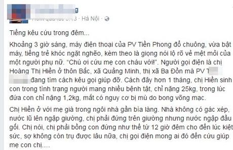 Ban tre keu goi cong dong huong ve mien Trung ruot thit - Anh 4