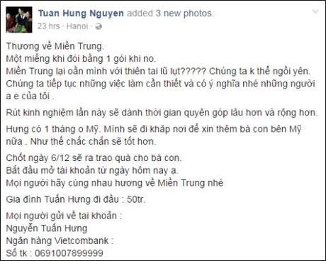 Nghe si Bac - Nam ung ho dong bao mien trung hang ty dong - Anh 6