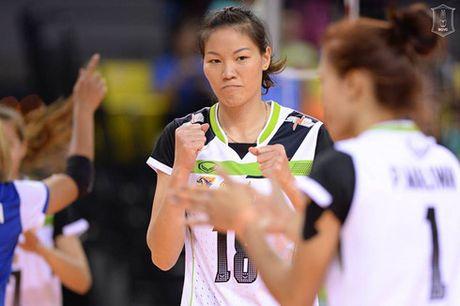 Nguyen Thi Ngoc Hoa du giai bong chuyen cac CLB nu the gioi - Anh 1