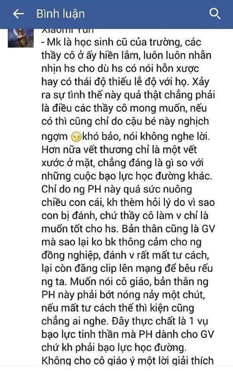 Mot phu huynh danh giao vien roi tung len mang: Can xem lai cach hanh xu - Anh 2