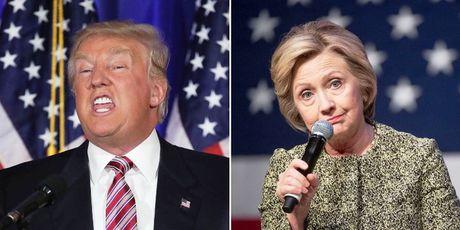 Ba Hillary Clinton noi rong khoang cach voi ong Donald Trump - Anh 1
