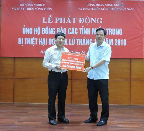Bo NN&PTNT ung ho tren 400 trieu dong cho dong bao mien Trung - Anh 1