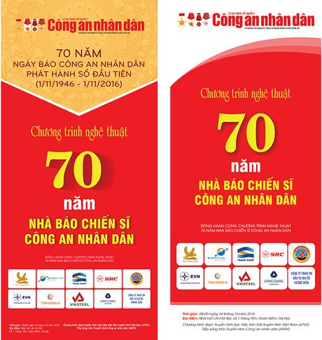 Chuong trinh nghe thuat '70 nam nha bao chien si Cong an nhan dan' truyen hinh truc tiep tren song VTV va ANTV - Anh 2