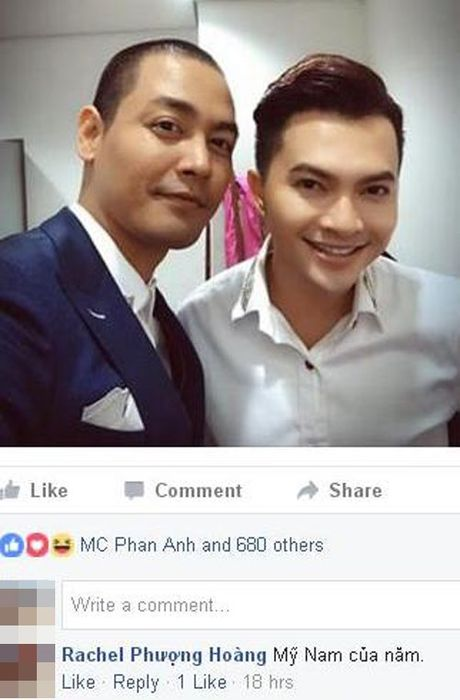 Het long vi cong dong, MC Phan Anh duoc ton vinh 'my nam cua nam' - Anh 1
