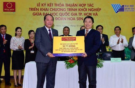 Tap doan Hoa Sen tai tro 10,5 ty dong cho chuong trinh khoi nghiep Dai hoc Quoc gia TP.HCM - Anh 1