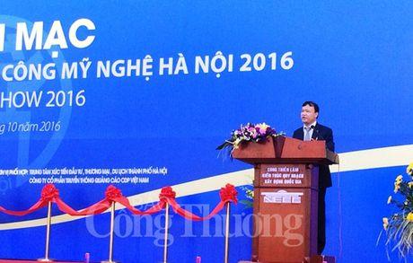 Khai mac Hoi cho qua tang hang thu cong my nghe Ha Noi 2016 - Anh 1