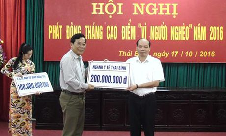1,1 ty dong ung ho nguoi ngheo tinh Thai Binh - Anh 1