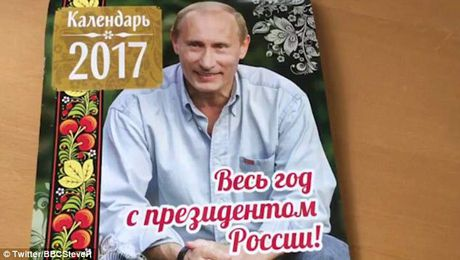 Hinh anh Putin om meo len lich 2017 - Anh 3