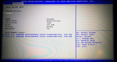 Thiet lap o cung chay RAID 0 va cai dat Windows - Anh 5