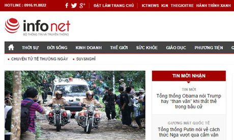 Tam dinh chi chuc vu Tong Bien tap, Pho Tong Bien tap bao Infonet - Anh 1