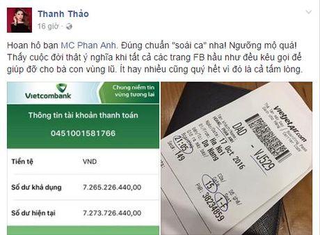 Sao Viet 'rung rung nuoc mat' truoc tam long cua MC Phan Anh - Anh 5
