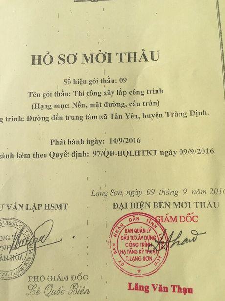 BQL DTXD cong trinh ha tang ky thuat tinh Lang Son: Co tinh rut ruot ho so de loai nha thau? - Anh 5