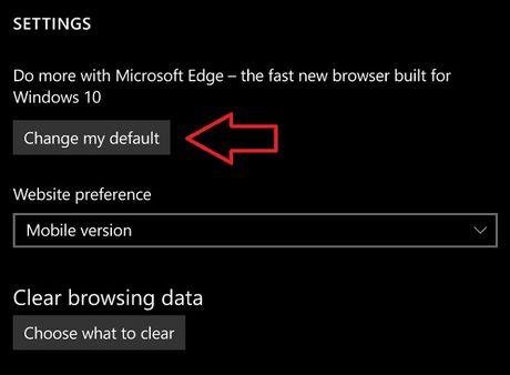 Windows 10 Mobile se cho phep doi trinh duyet mac dinh - Anh 2