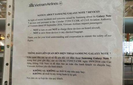 Note 7 bi cam, Samsung Viet Nam ra tan san bay ho tro doi may - Anh 1