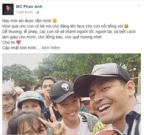 MC Phan Anh toi Ha Tinh voi so tien 16 ty - Anh 1