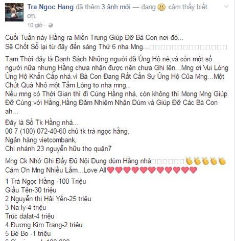 Sao Viet tich cuc keu goi ung ho dong bao mien Trung - Anh 10